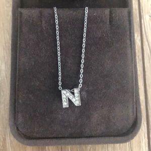 N letter necklace